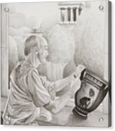 Greek Pottery Acrylic Print