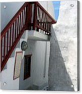 Greek Staircase Acrylic Print