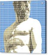 Greek Statue #2 - Blue Acrylic Print