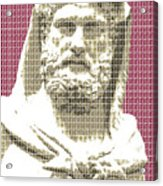 Greek Statue #3 - Dark Red Acrylic Print