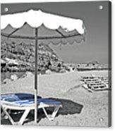 Greek Umbrella Acrylic Print
