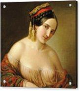 Greek Woman Acrylic Print