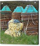 Green - Crab Pots Acrylic Print