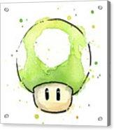 Green 1up Mushroom Acrylic Print