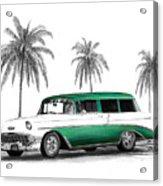 Green 56 Chevy Wagon Acrylic Print