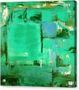 Green Abstract Acrylic Print
