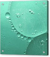 Green Abstract Of Oil Droplet.  Acrylic Print