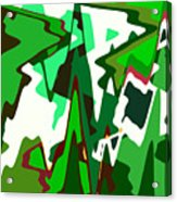 Green Abstract Squared #2 Acrylic Print