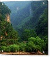 Green Along The Yangtze Acrylic Print