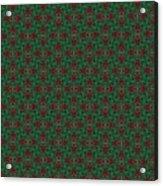 Green And Brown Chunky Cross Mirror Pattern Acrylic Print