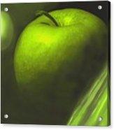 Green Apple Drama Acrylic Print
