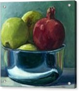 Green Apples And A Pomegranate Acrylic Print