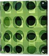 Green Astigmatism Acrylic Print by Teodoro De La Santa