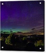 Green Aurora Curtain Acrylic Print