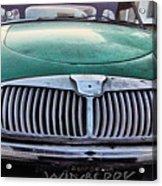 Green Austin Healey In Drive Acrylic Print