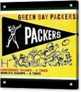 Green Bay Packers 1959 Pennant Acrylic Print
