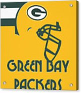 Green Bay Packers Team Vintage Art Acrylic Print