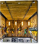 Green Bay Packers Uniforms Then And Now Acrylic Print