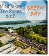Green Bay Rise/shine 2 W/text Acrylic Print