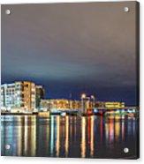 Green Bay Wisconsin City Skyline At Night Acrylic Print