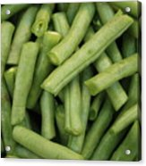 Green Beans Close-up Acrylic Print