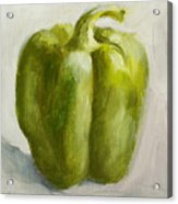 Green Bell Pepper Acrylic Print