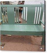 Green Bench Acrylic Print