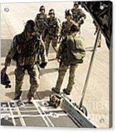 Green Berets Board A C-130h3 Hercules Acrylic Print