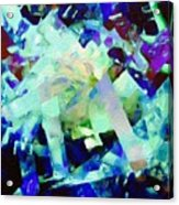 Green Blue Mix Acrylic Print