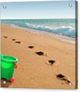 Green Bucket  Acrylic Print