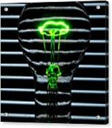 Green Bulb Acrylic Print