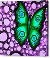 Green Butterfly II Acrylic Print by Brenda Higginson