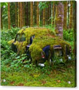 Green Car Acrylic Print