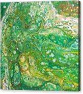 Green Cells Acrylic Print
