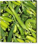 Green Chilis Acrylic Print