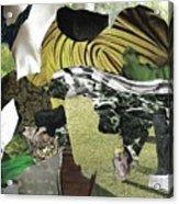 Green Collage 1 Acrylic Print