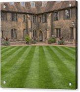 Green College Yard Acrylic Print