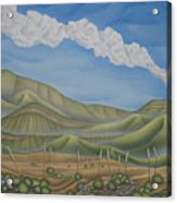 Green Desert Acrylic Print
