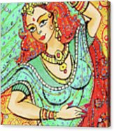 Green Devi Acrylic Print