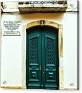 Green Door 6 Acrylic Print