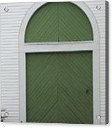 Green Door Arch Acrylic Print