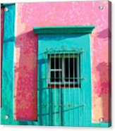 Green Door By Darian Day Acrylic Print