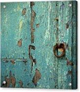 Green Door. Essaouira. Morocco Acrylic Print
