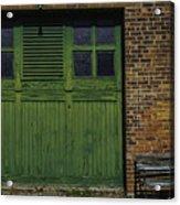 Green Door Shaker Wash House Acrylic Print