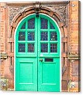 Green Door Acrylic Print