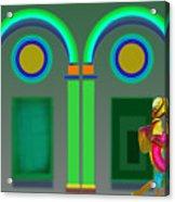 Green Doors Acrylic Print