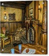 Green Dragon Fireplace Acrylic Print