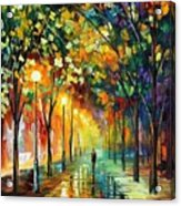 Green Dreams Acrylic Print by Leonid Afremov
