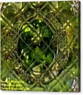Green Emerald And White Diamond Brooch Distortion Aa H A Acrylic Print