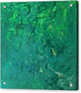 Green Exoplanet Surface Acrylic Print